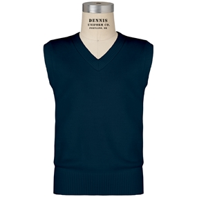 Navy V-Neck Sweater Vest