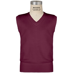 Wine V-Neck Sweater Vest