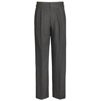 Dark Grey Pleated Front Pants