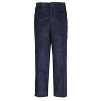 Navy Corduroy Flat Front Pants