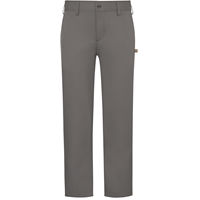 Grey Performance Flat Front Pants