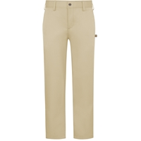 Khaki Performance Flat Front Pants