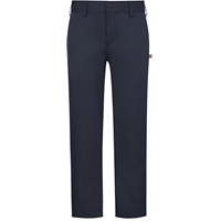 Navy Performance Flat Front Pants