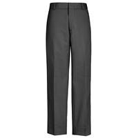 Dark Grey Relaxed Fit-Flat Front Pants
