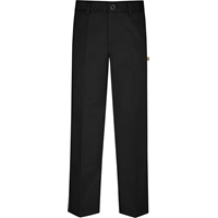 Black Irvington Flat Front Pants