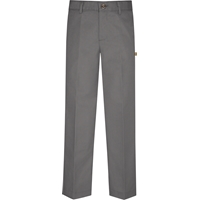 Grey Irvington Flat Front Pants