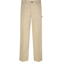 Khaki Irvington Flat Front Dress Pant with School Logo