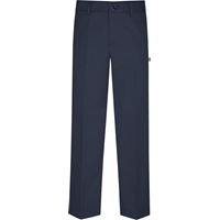 Navy Irvington Flat Front Dress Pant with School Logo
