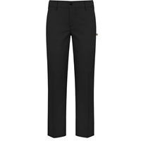 Black Irvington Flat Front Stretch Dress Pant