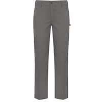 Grey Stretch Flat Front Pants