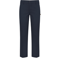 Navy Stretch Flat Front Pants