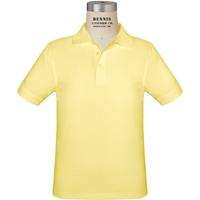 Yellow Short Sleeve Jersey Polo with School Logo