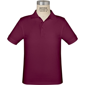 Wine Short Sleeve Jersey Polo