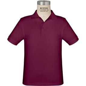 Wine Short Sleeve Jersey Polo