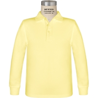 Yellow Long Sleeve Jersey Polo with School Logo