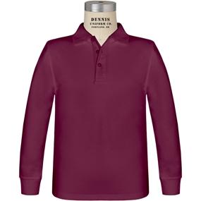 Wine Long Sleeve Jersey Polo