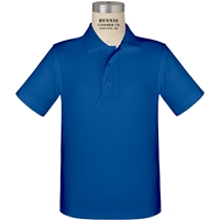 Royal Short Sleeve Performance Polo with School Logo