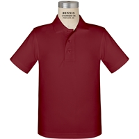 Cardinal Short Sleeve Performance Polo with School Logo