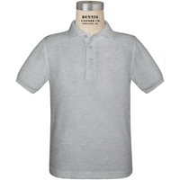 Ash Short Sleeve Pique Polo with School logo