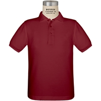Cardinal Short Sleeve Pique Polo with School Logo