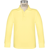 Yellow Long Sleeve Pique Polo