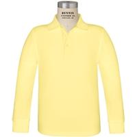Yellow Long Sleeve Pique Polo