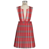 Victoria Plaid Knife Pleated Jumper