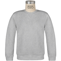 Ash Classic Crew Gusset Front Neck Pull Over Sweatshirt with School Logo