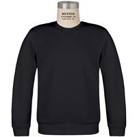 Black Crew Neck Sweatshirt with School Logo