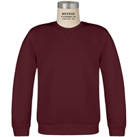 Maroon Crew Neck Sweatshirt with School Logo