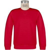 Red Classic Crew Gusset Front Neck Pull Over Sweatshirt with School Logo