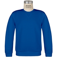 Royal Classic Crew Gusset Front Neck Pull Over Sweatshirt with School Logo