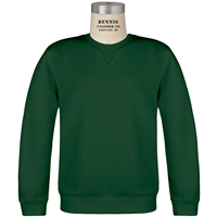Green Classic Crew Gusset Front Neck Pull Over Sweatshirt with School Logo
