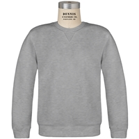 Oxford Grey Classic Crew Gusset Front Neck Pull Over Sweatshirt