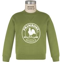 Primrose Green Crew Neck Sweatshirt with Primrose logo