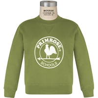 Primrose Green Classic Crew Gusset Front Neck Pull Over Sweatshirt with Primrose logo