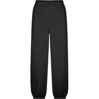Black Pull On Sweat Pant with Jogger Bottom