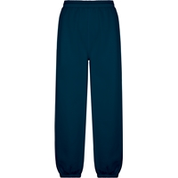 Navy Pull On Sweat Pant with Jogger Bottom with School Logo
