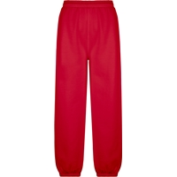 Red Pull On Sweat Pant with Jogger Bottom with School Logo