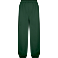 Green Pull On Sweat Pant with Jogger Bottom with School Logo