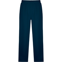Navy Unisex Open Bottom Sweatpants with School Logo