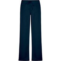 Navy Female Open Bottom Sweatpants with School Logo