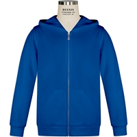 Royal Zip-Up Hooded Sweatshirt with School Logo