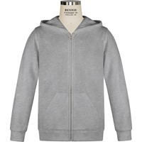 Oxford Grey Full Zip Hooded Sweatshirt with School logo