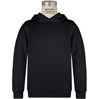 Black Hooded Sweatshirt with School Logo