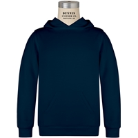 Navy Pullover Hooded Sweatshirt with School logo