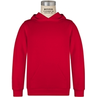 Red Pullover Hooded Sweatshirt with School Logo