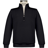 Black Quarter Zip Pullover Sweatshirt with School logo