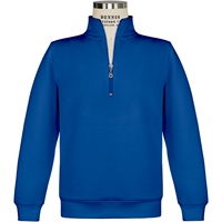 Royal Quarter Zip Pullover Sweatshirt with School Logo