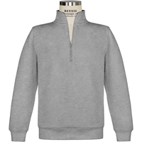 Oxford Grey Quarter Zip Pullover Sweatshirt with School Logo